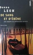 """Donna Leon """"De sang et d'ébène"""""""