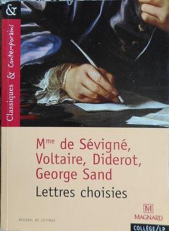 Mme de sévigné, Voltaire, Diderot, George Sand.