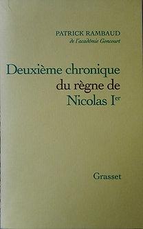 """Patrick Rambaud """"Deuxième chronique du règne de Nocolas II"""""""