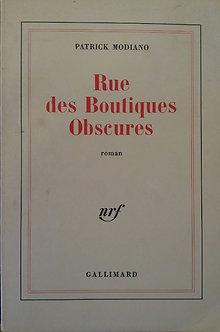 """Patrick Modiano  """"Rue des boutiques obscures"""""""
