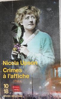 """Nicola Upson  """"crimes à l'affiche"""""""