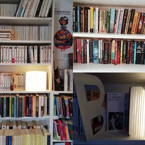 Plus de 2000 livres dans la bibliothèque de bouquins malin asbl !