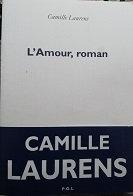 """Camille laurens """"L'amour, roman"""""""