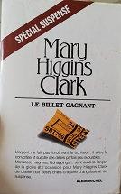 """Mary Higgins Clarck """"Le billet gagnant"""""""