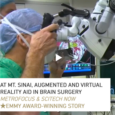"Produced, shot, wrote, edited and reported on camera about this innovative use of technology in healthcare.  This story is part of an Emmy-winning episode of ""SciTech Now."""