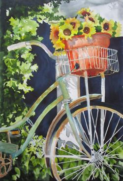 Basket of Sunflowers