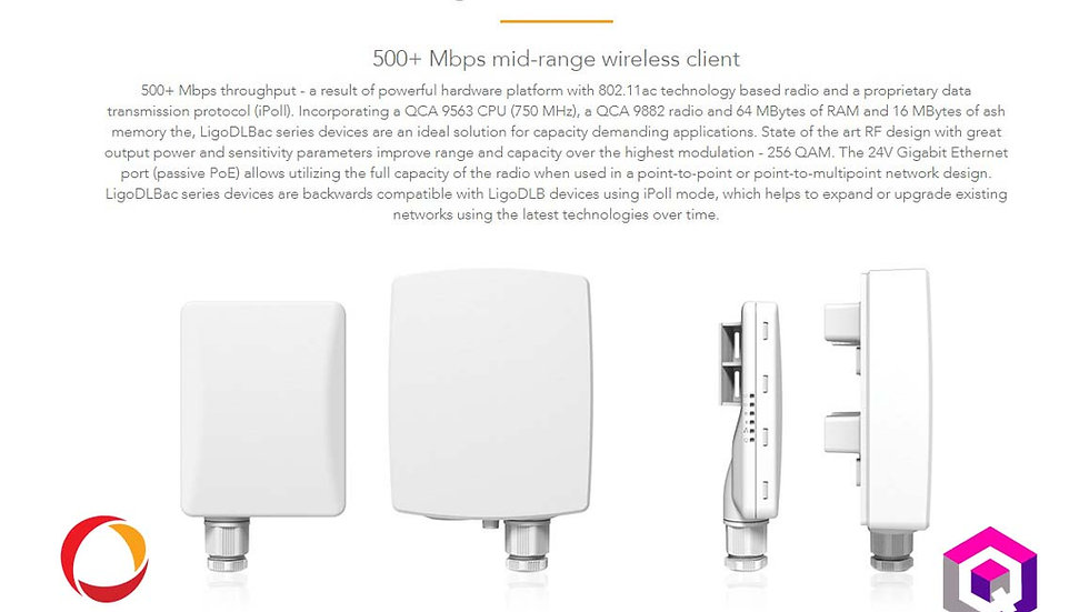 Ligowave DLB5-15ac High Capacity Wireless Device