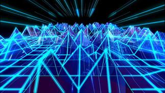 laser-artwork-digital-art-wireframe-wall