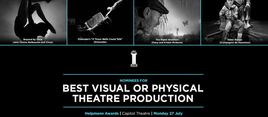 July 2015 – We won the Helpmann Award for Best Visual Theatre Production!