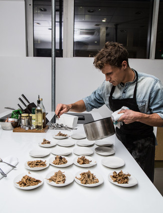 Jens plating for his supperclub London