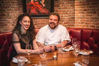 Chef Eduardo and his wife Ruth for Omnino restaurant London