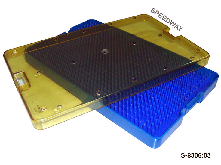 Plastic Sterilization Tray Size: 235 x 130 x 19 mm