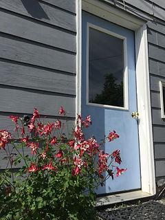 Garden Apartment blue door