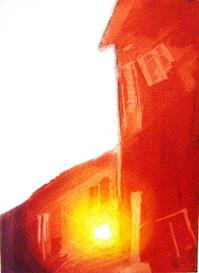 Kolory dnia wymiary: 21,0 cm. x 30,0 cm. technika: akwatinta / 2008