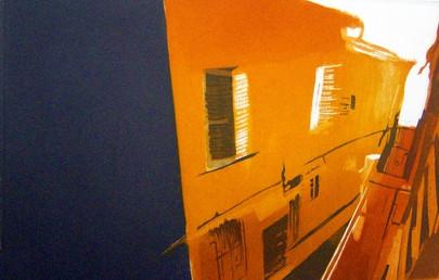 """Książka Artystyczna/ART BOOK  Książka Artystyczna """"Fermo sulla rotonda collina""""  wykonana w Międzynarodowym Centrum Grafiki Artystycznej Kaus w Urbino  http://www.kaus.it/libri/paulina-zalewska-progetto-volponi wymiary: 26,0 cm. x 25,0 cm. 7 stron, technika: akwatinta, sucha igła, suchy tłok / 2007  _____________________________________________________________________________________  Paulina Zalewska (progetto Volponi)   Flaga Włoch Accademia di Belle Arti di Lodz (Polonia)  Titolo: Fermo sulla rotonda collina Anno: 2007 Tecnica: acquatinta, puntasecca, scrittura Formato libro chiuso: 260 x 250 mm Tiratura: 5 esemplari Carta: Magnani Pescia, 400 gr, bianca  ______________________________________________________________________________________  Art Book """"Fermo rotonda sulla collina""""   Znalezione obrazy dla zapytania anglia made at the International Centre of Graphic Art Kaus Urbino http://www.kaus.it/libri/paulina-zalewska-progetto-volponi 26.0 cm. x 25.0 cm. 7 pages, technique: aquatint, drypoint, dry piston / 2007"""