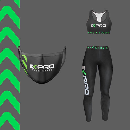 "Fitness Bundle ""Fluo Arrows"" Green"