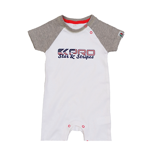 Kpro Star&Stripes - Baby Baseball Playsuit