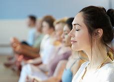 Classe de méditation en pleine concience