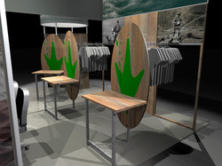 FroggToggs display pedestals