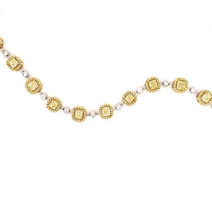 6.34cts Fancy yellow diamond bracelet