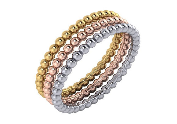 Beaded Eternity Band (Sold Individually)