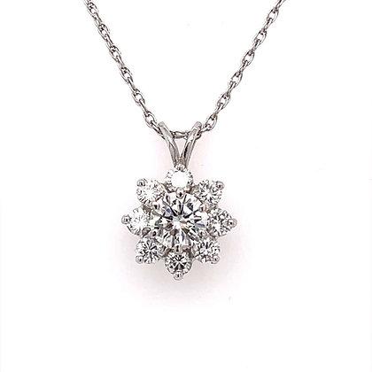 1.70cts diamond pendant in 18k white gold