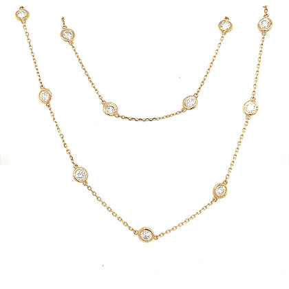 Diamonds by the yard necklace 14kt yellow gold