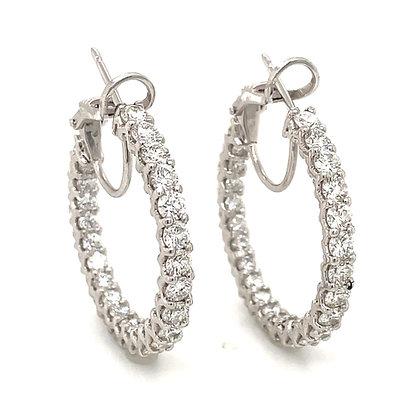 CLASSIC ROUND DIAMONDS HOOP EARRINGS