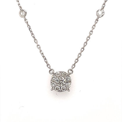 Diamond necklace in diamond by the yard chain