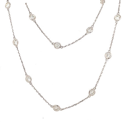 Diamonds by the yard necklace 14kt white gold