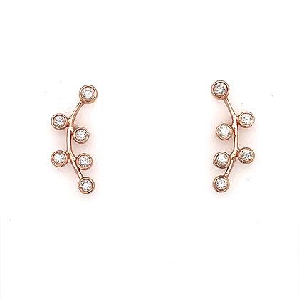 Ear Climbers earrings in bezel setting