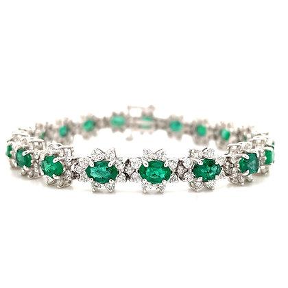 Emerald and Diamond Bracelet in