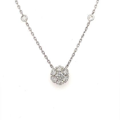 Diamond pendant in 14k w/g