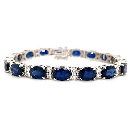 Sapphire and Diamond Bracelet in 18kt white gold