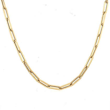 Paperclip Chain Necklace in 14kt Yellow Gold 16 inches