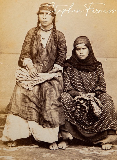 Egyptian Women with Tobacco Leaves 1870's