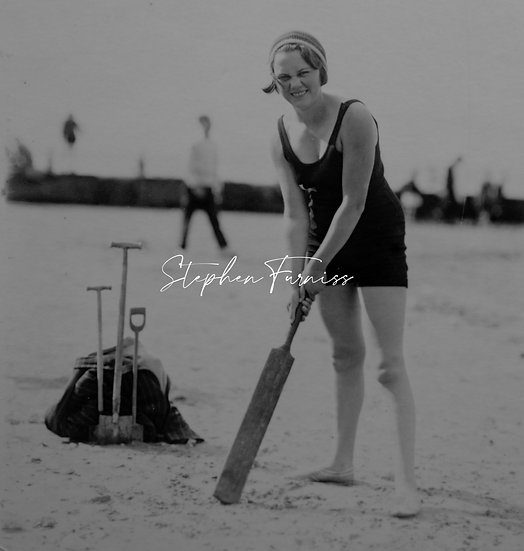 Playing Cricket on the Beach