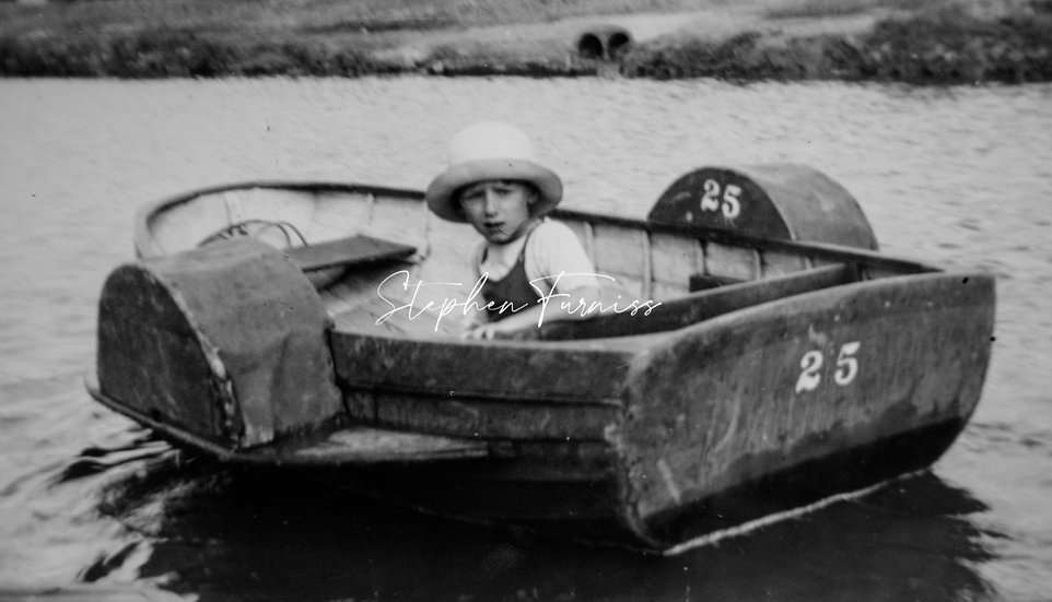 Child on a boat 1930's