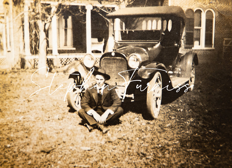 Lad and his Motor! 1920's