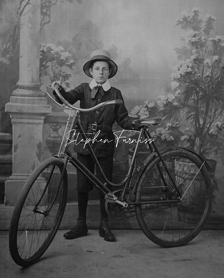 Young Boy and his Bike 1900's