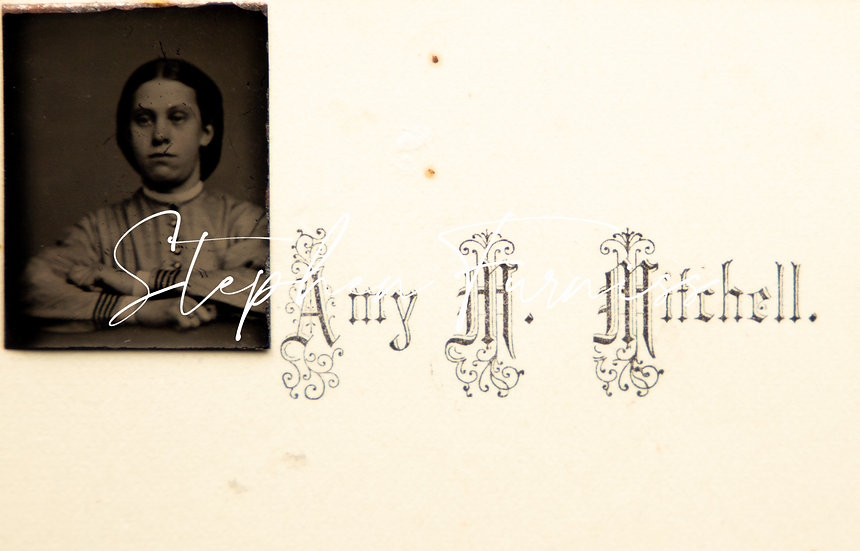 Visiting Card with Tin Type c.1865