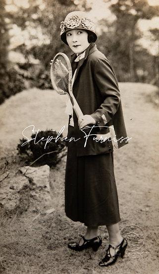 Japanese Tennis Lady 1920's