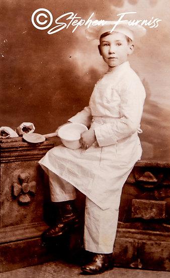 Young Chef Studio Portrait 1920
