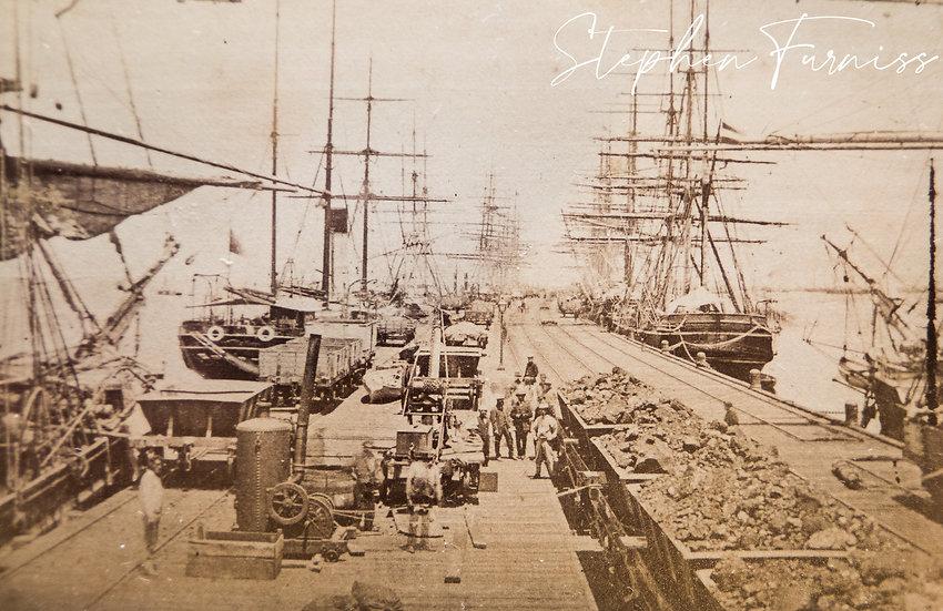 Sandridge Pier Melbourne Australia 1885