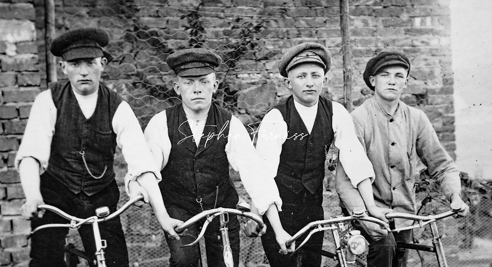 Boys and their Bikes! 1900's
