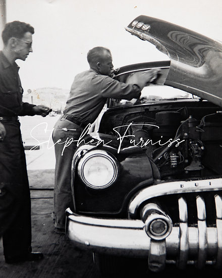 Wiping the Windshield 1950's