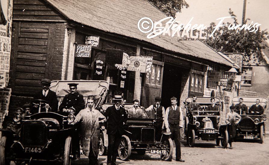 Outside the Garage 1910