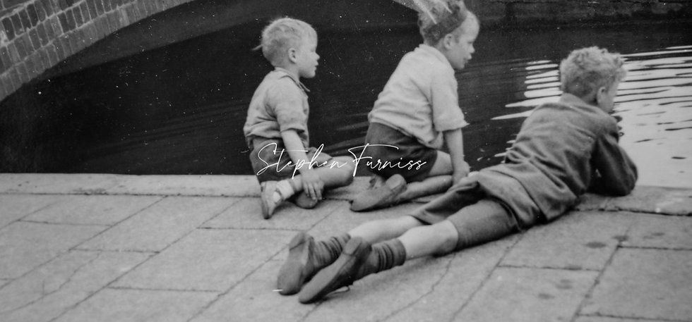 Kids by the River 1950's