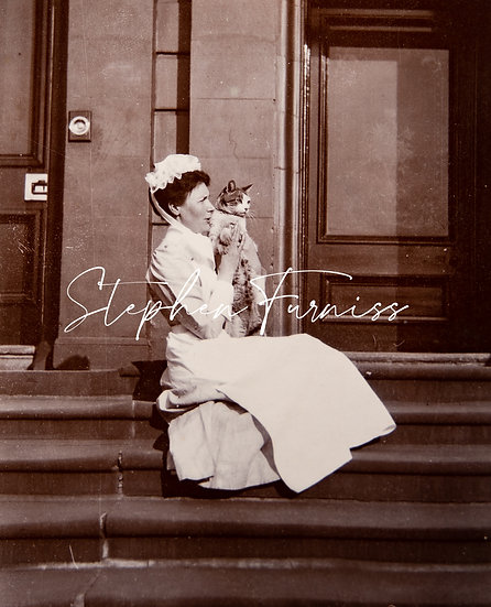 Edwardian Women with a Cat
