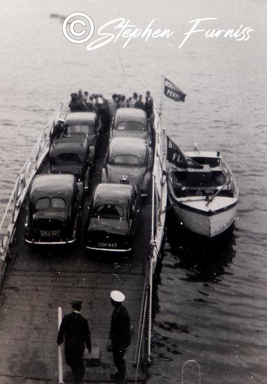Boddinick Car Ferry Cornwall 1950's